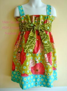Alia Girls Dress Pattern - PDF